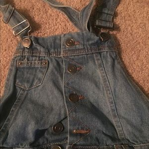 Hot kiss jean overall shorts